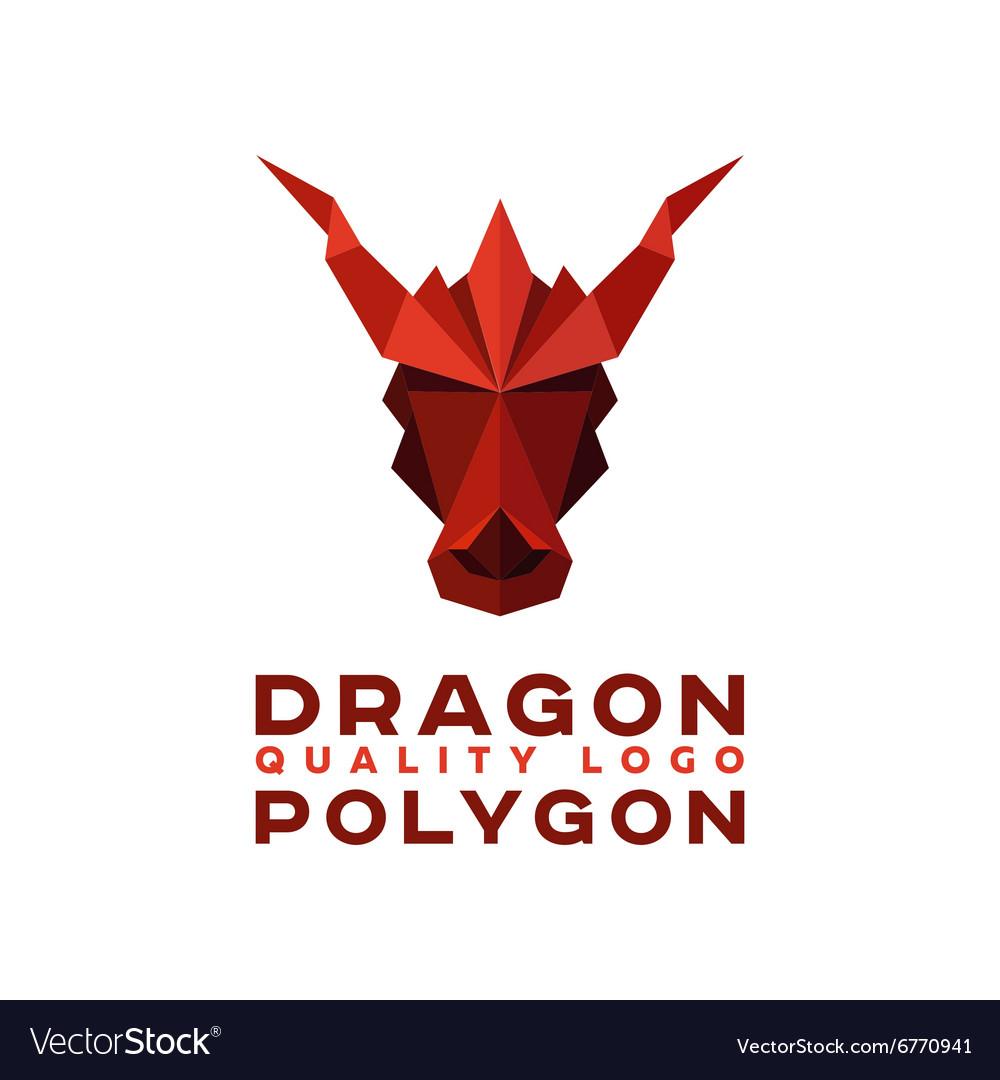 Head Polygon dragon origami logo