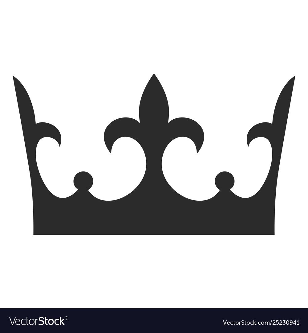 King crown black icon monarch decoration