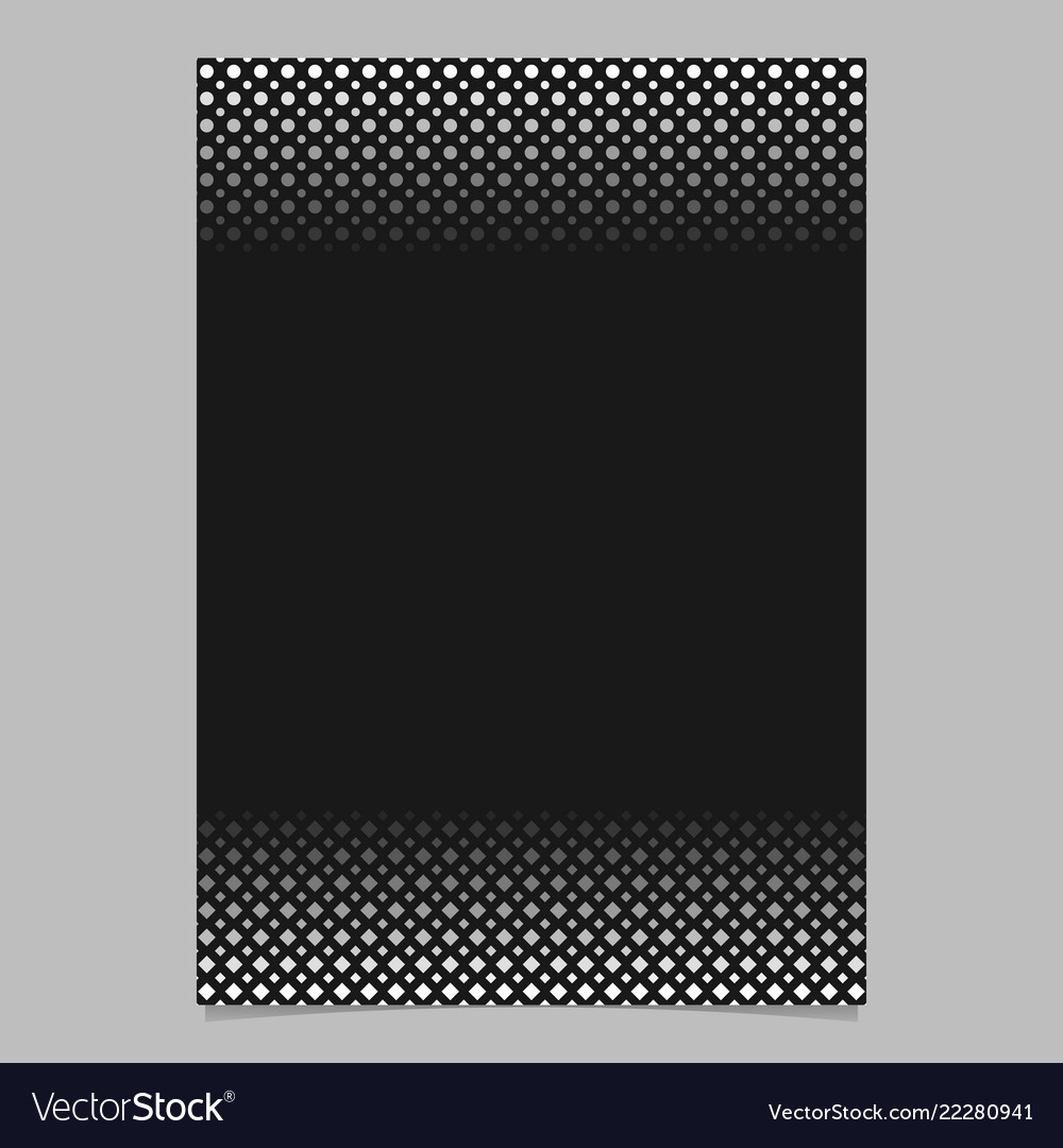 Monochrome abstract halftone circle and square