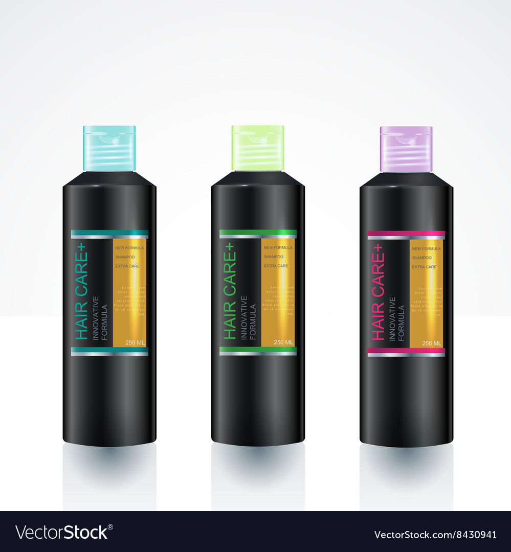 packaging design template for body care bottle vector image