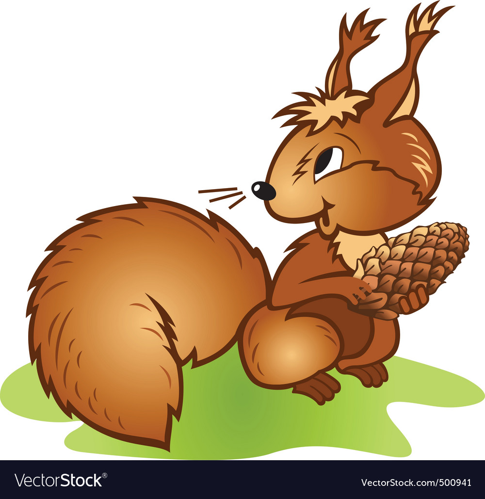 Squirrel pine cone