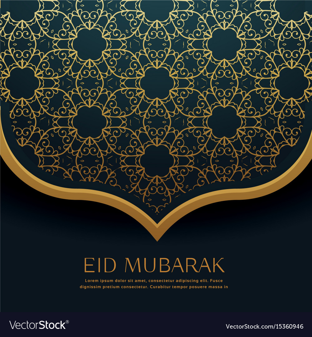Beautiful islamic pattern decoration for eid