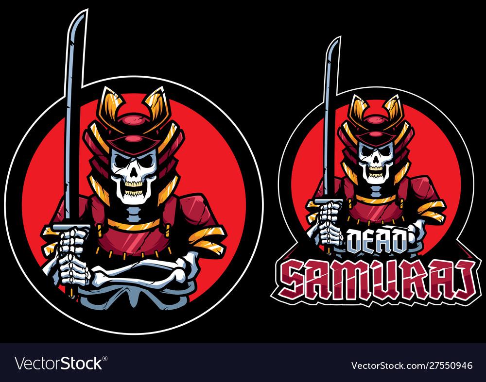 Dead samurai mascot