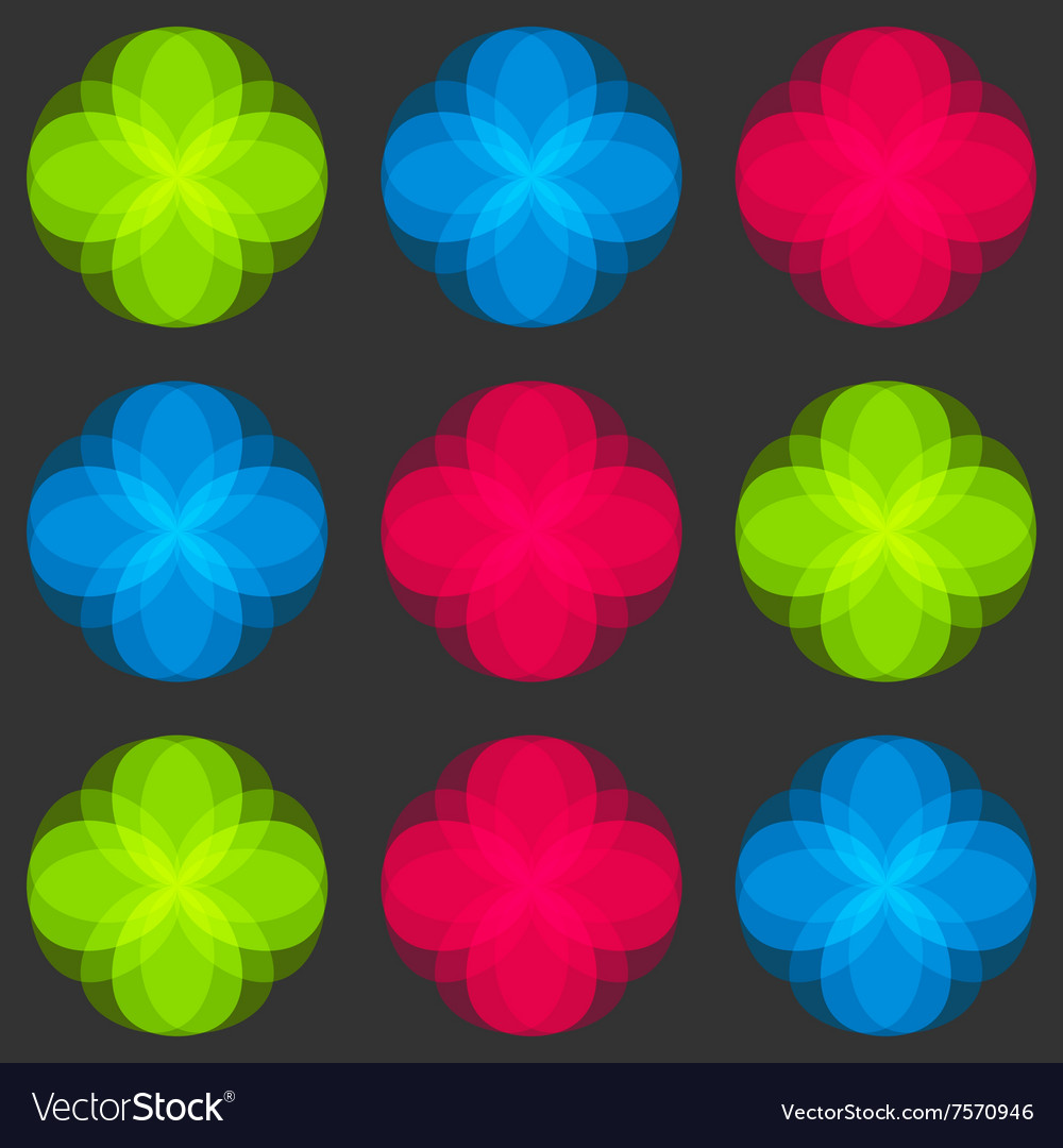 Flowers seamless pattern Bright colors elements
