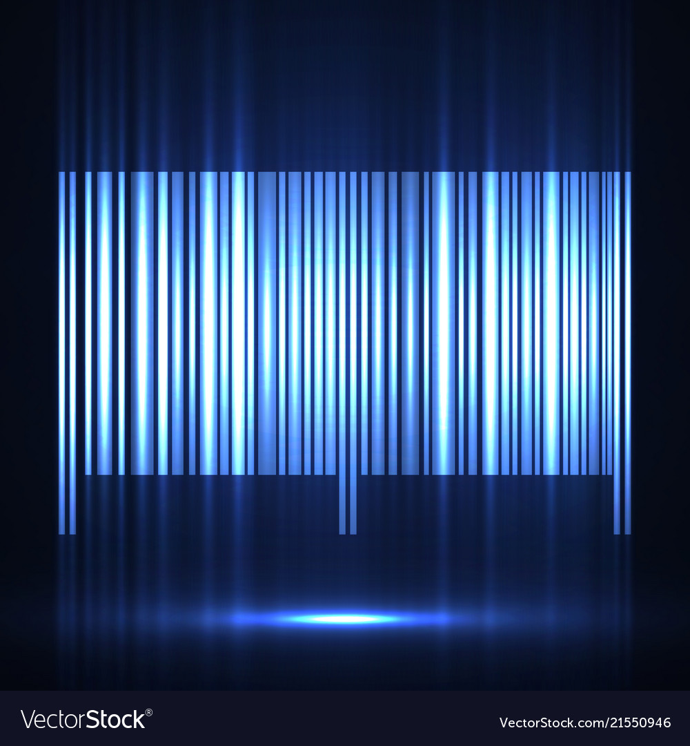 Neon barcode isolated on white background