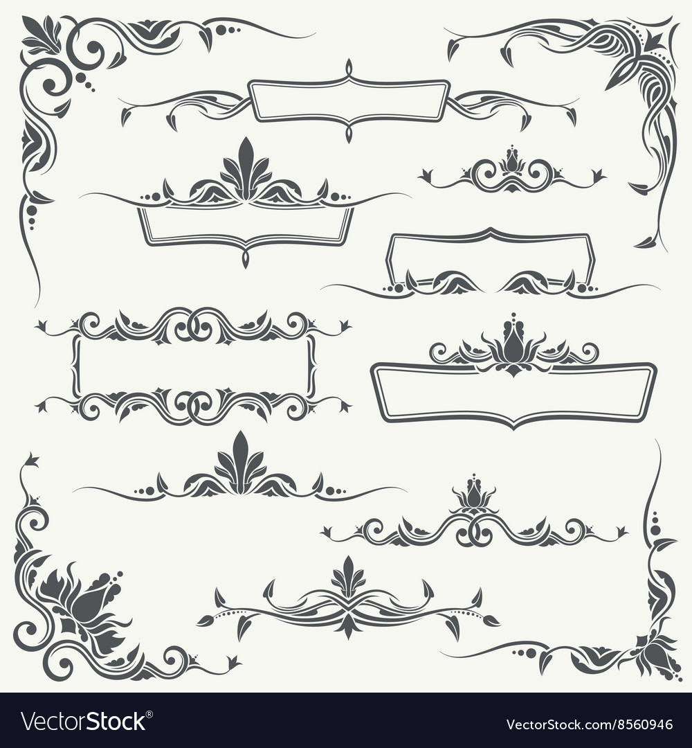 Vintage frames corners and dividers with