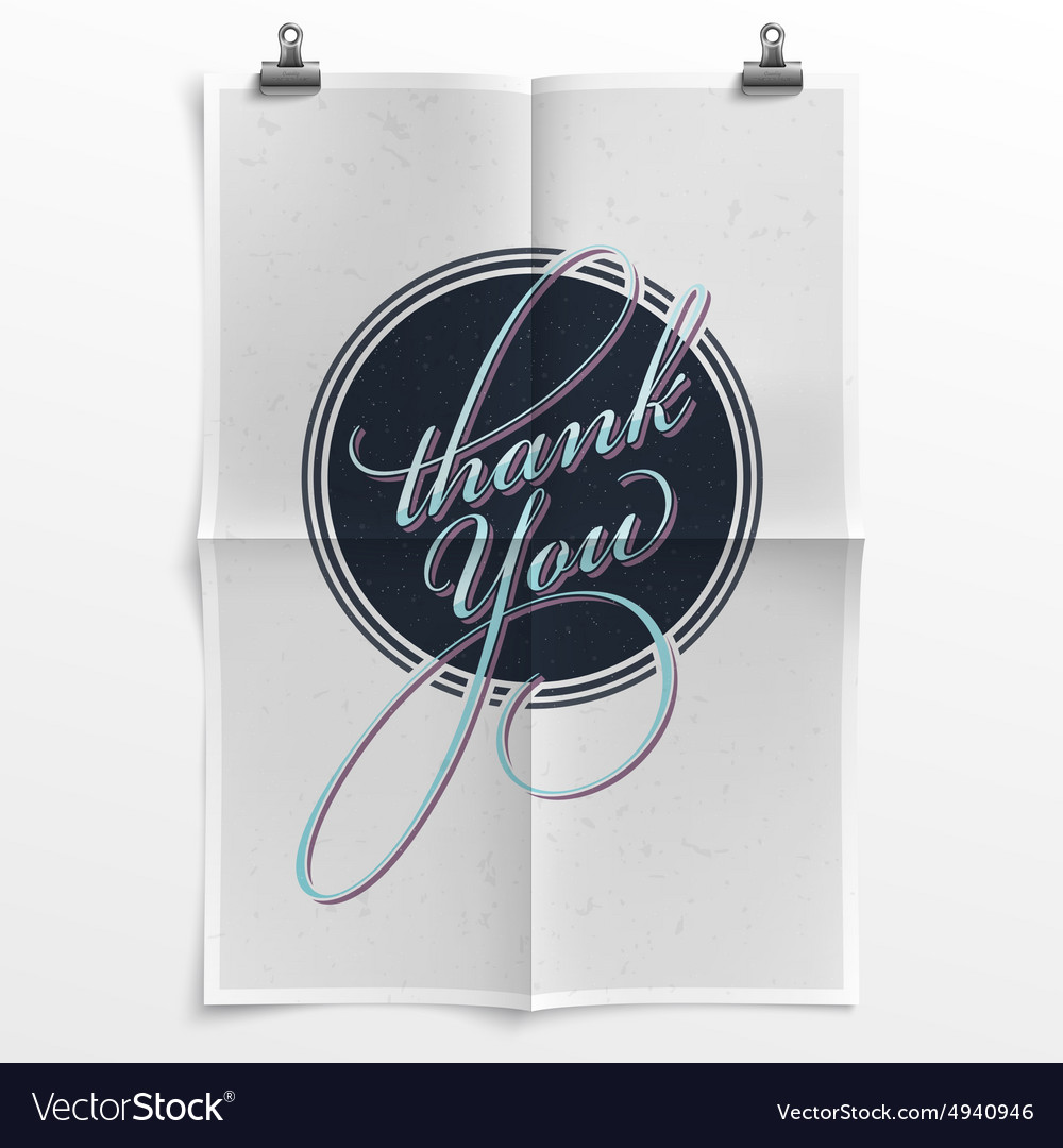 Vintage Thank You Poster
