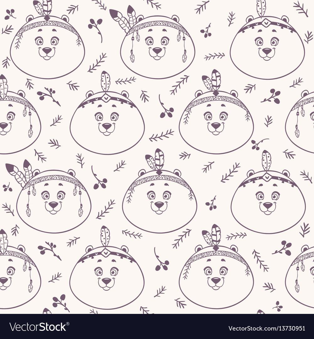 Bear background seamless