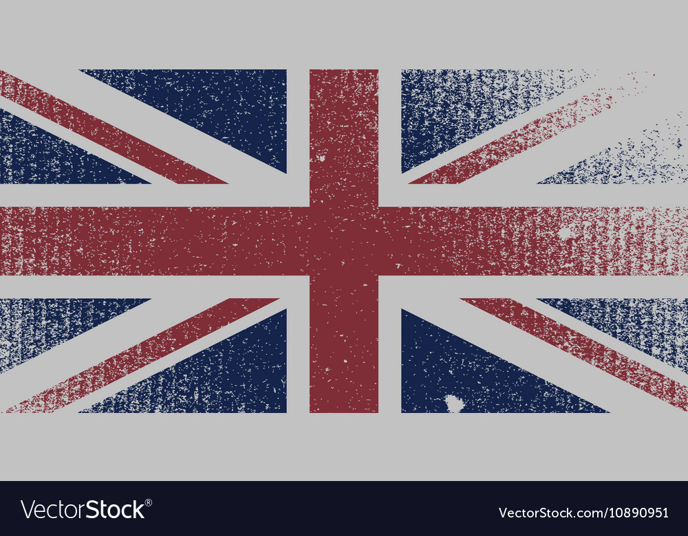 Distressed UK Flag vector image