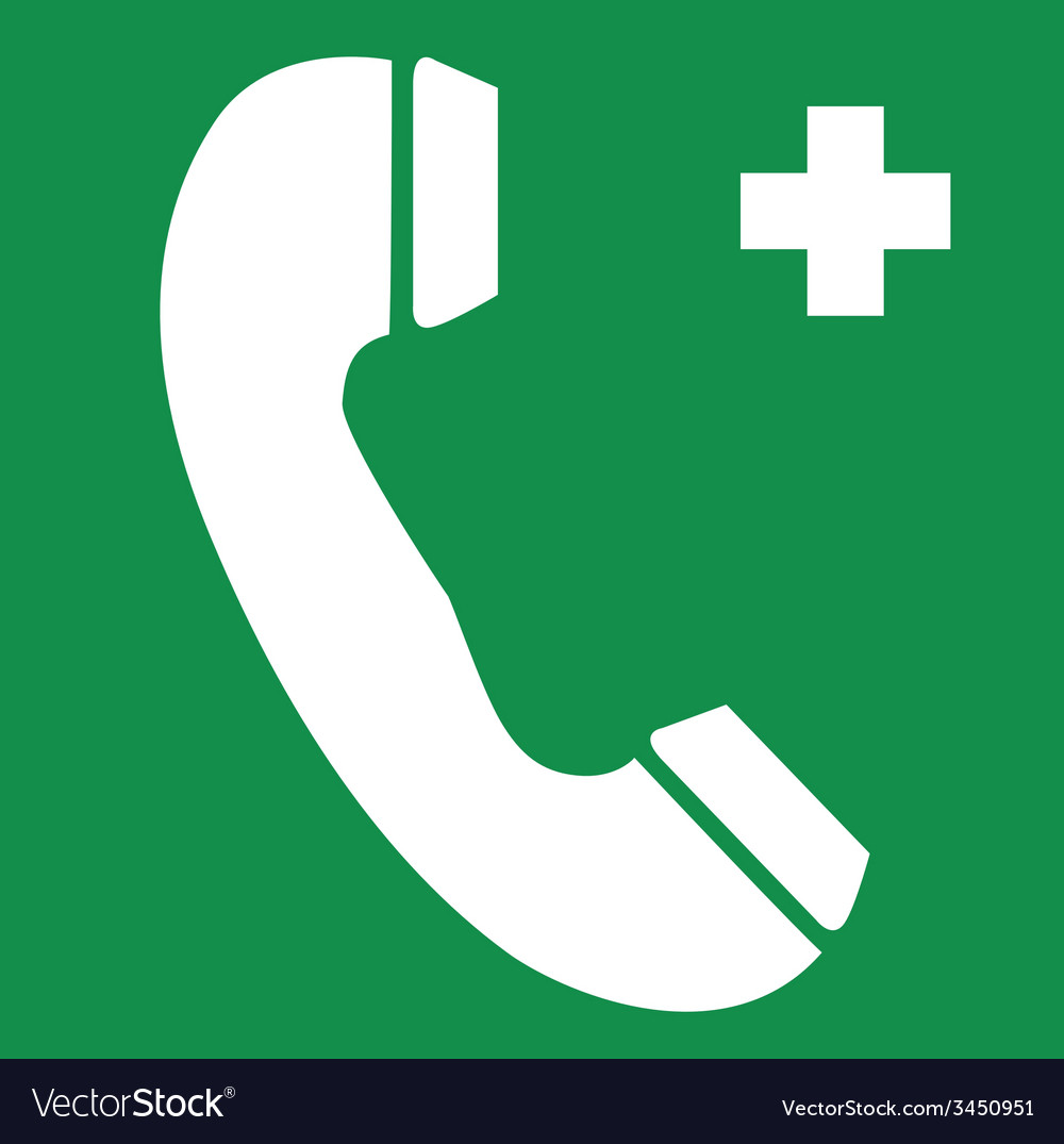 First Aid Telephone Safety Sign