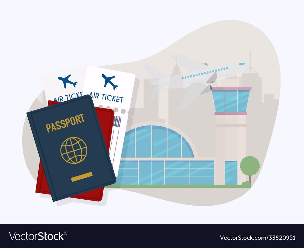 Travel around world vacation booking flat