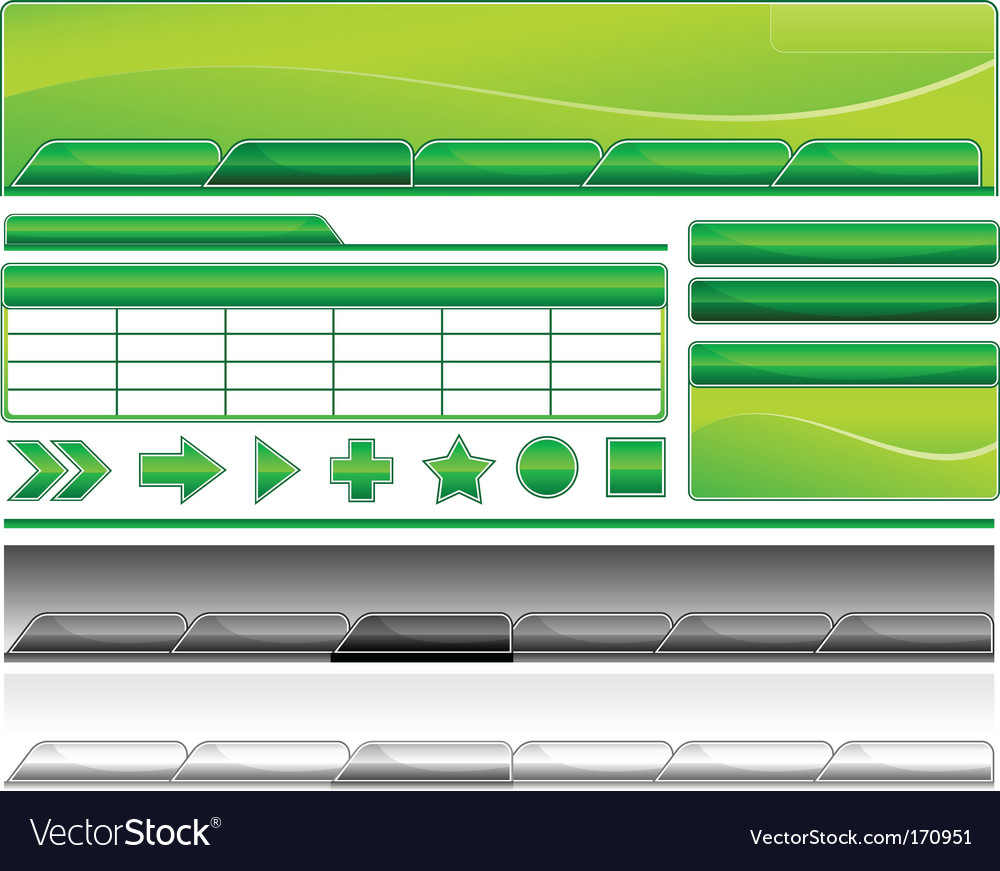 Web templates vector image