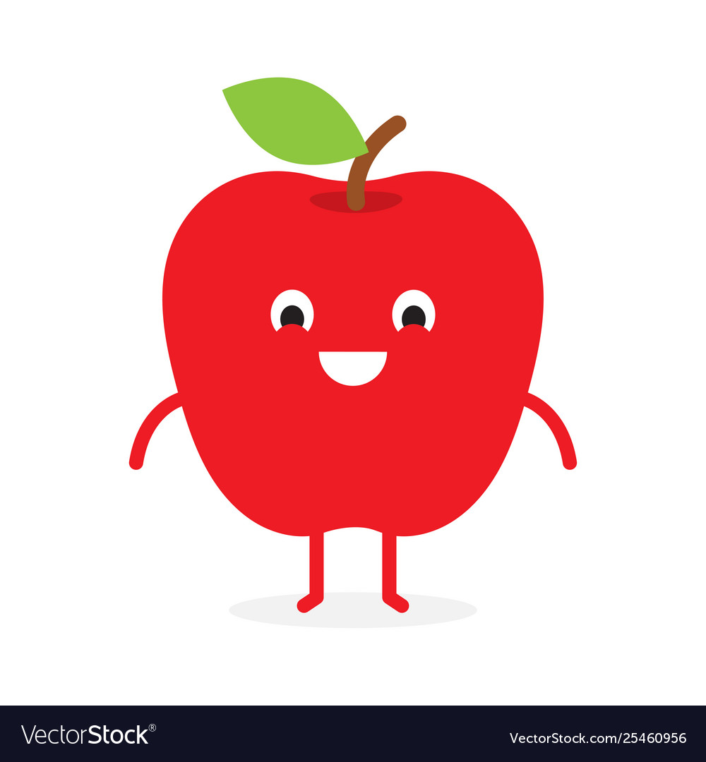 Apple cute fruit character