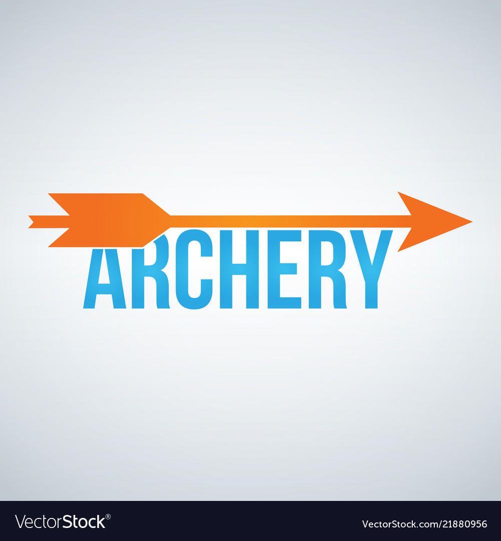 Archery color logo design template isolated on
