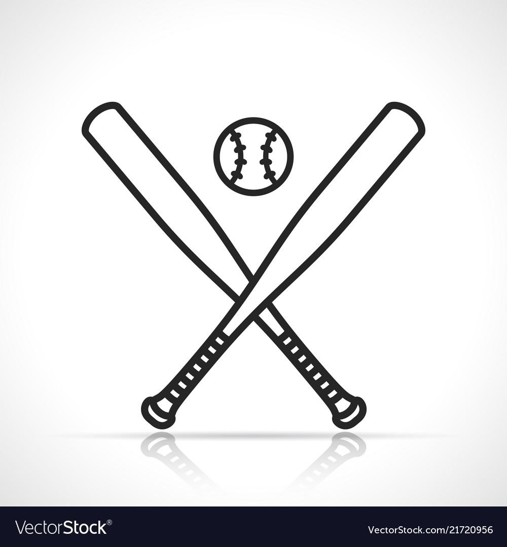 Baseball or softball icon
