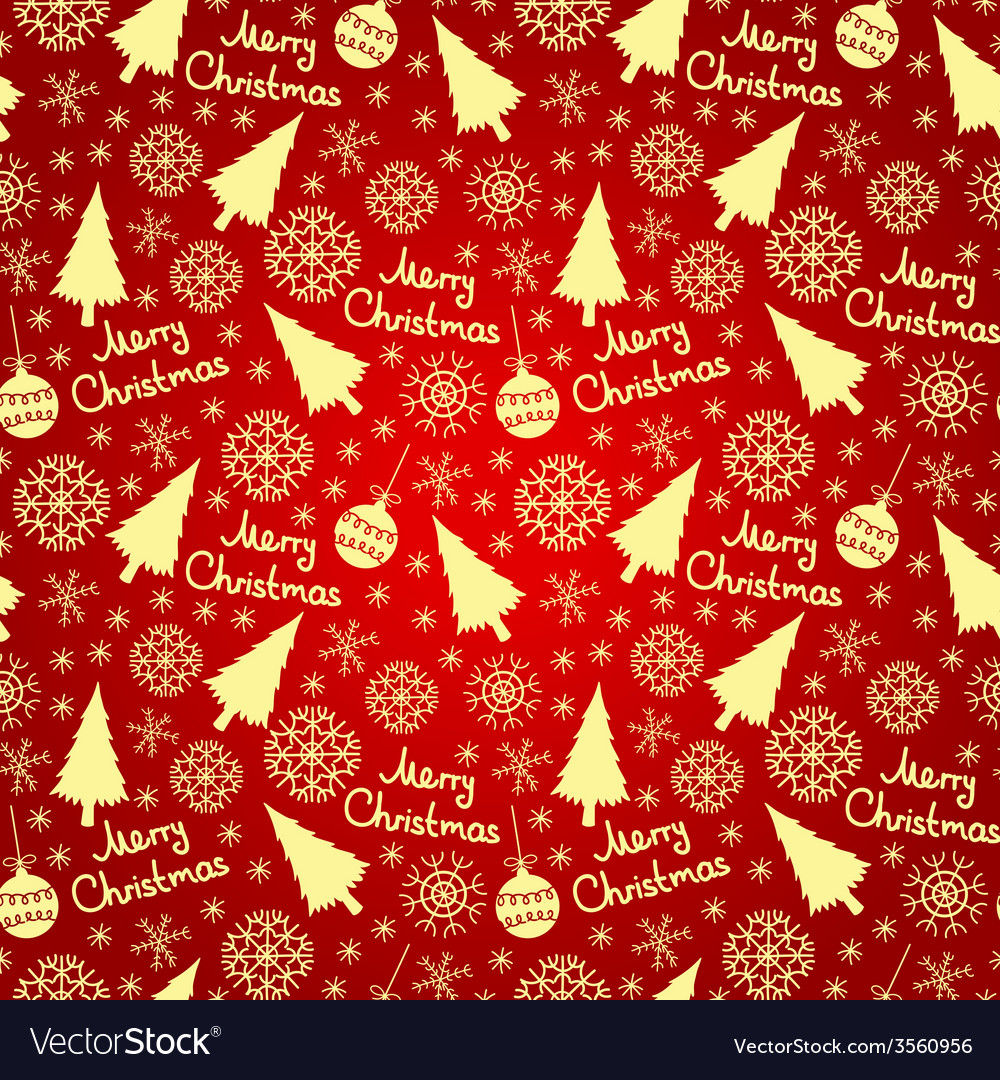 Christmas seamless pattern elements