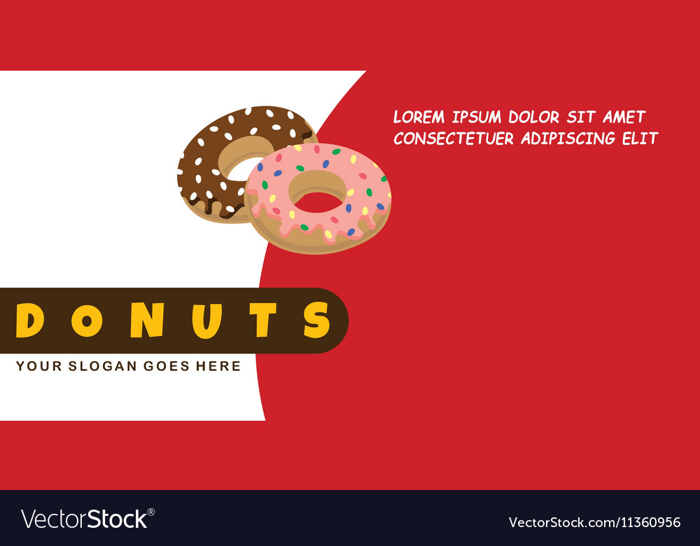 Donut Food Menu Banner Template Royalty Free Vector Image