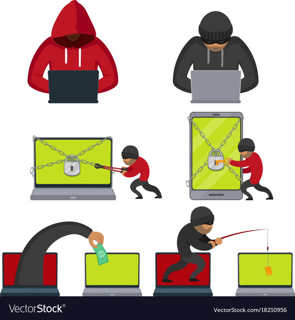 Flat style hackers using laptop stealing money