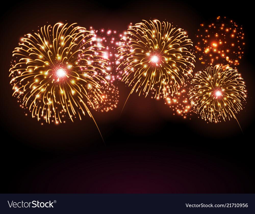 Holiday festival golden firework independence day