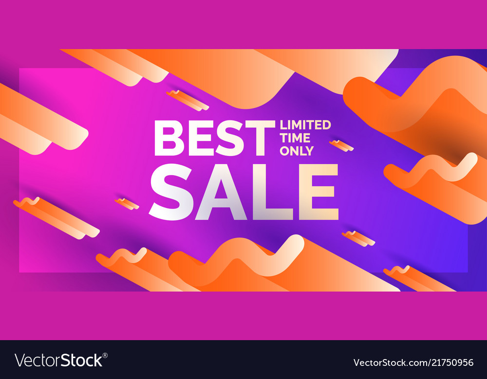Modern abstract background banner with waves of