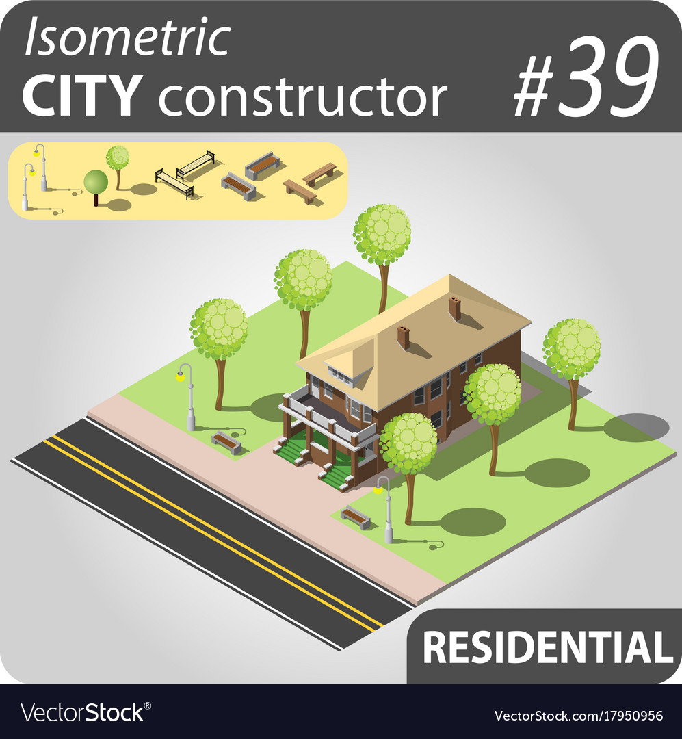 Modern isometric house