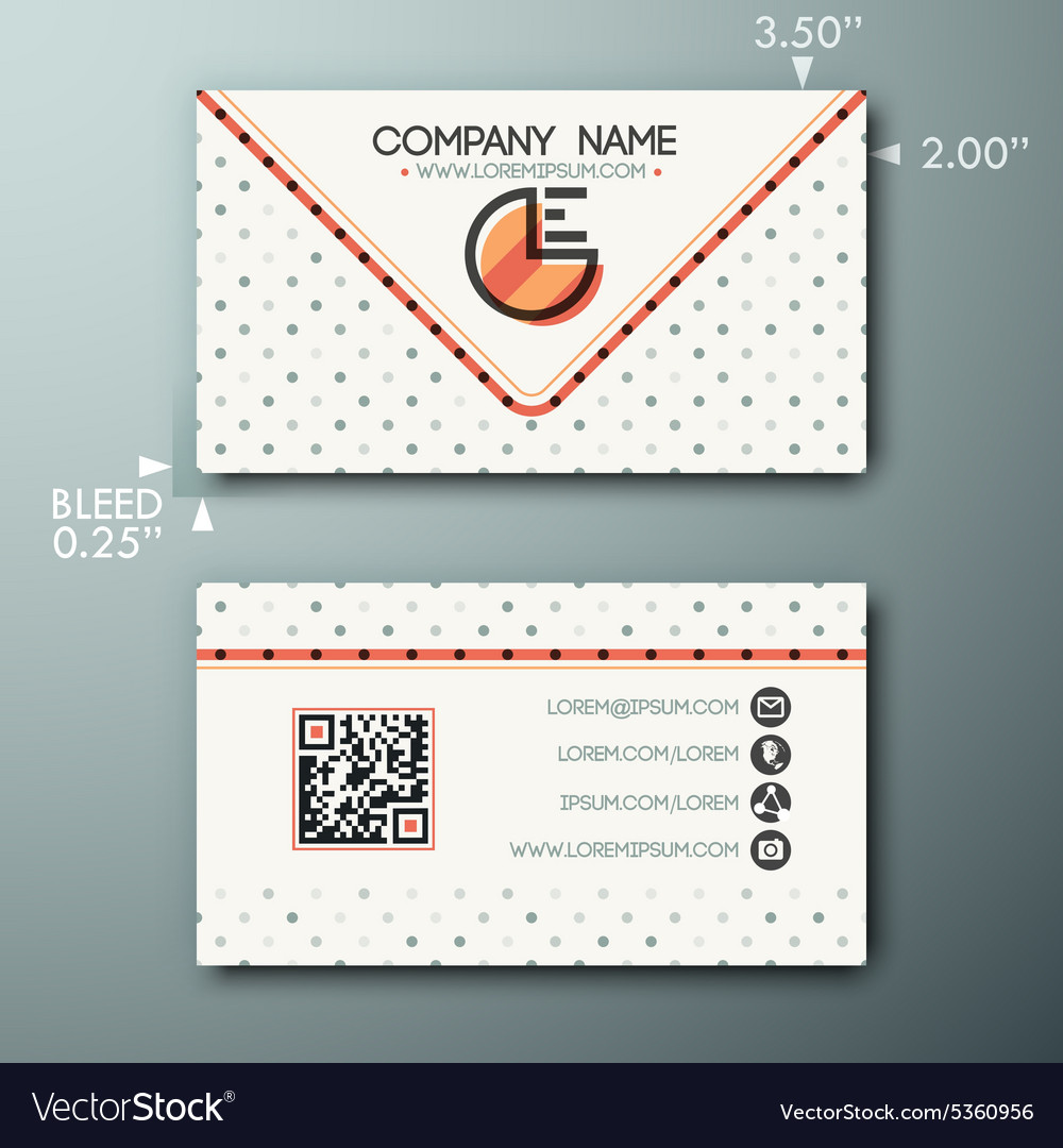 Modern simple vintage business card template with vector image flashek Images