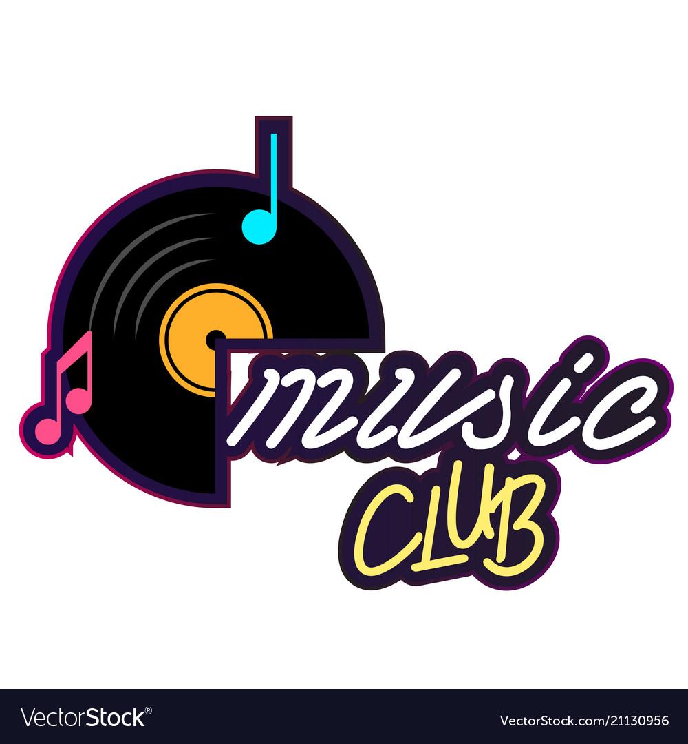 Neon music club vinyl disc record background