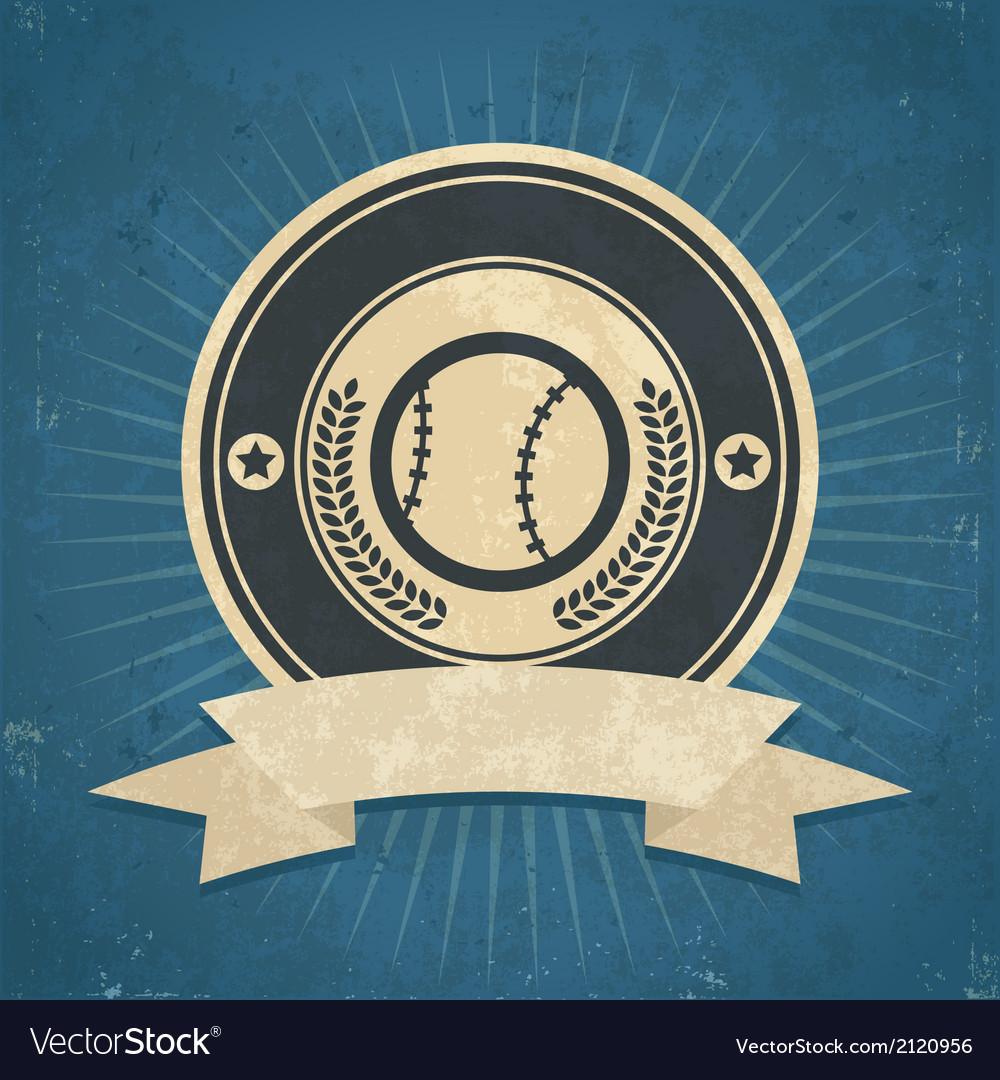 Retro Baseball Emblem