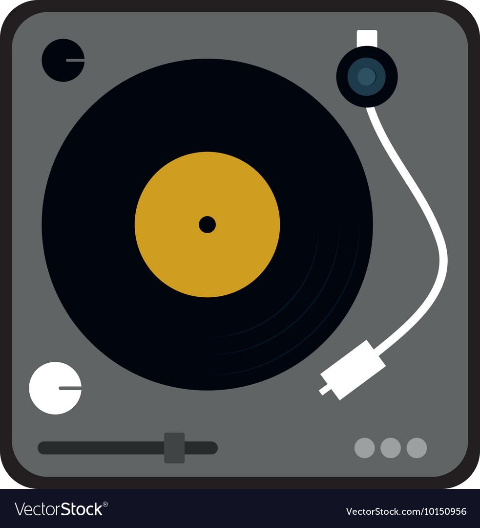 vinyl machine music sound dj icon graphic vector image rh vectorstock com vinyl vector graphic clip art vinyl vector art