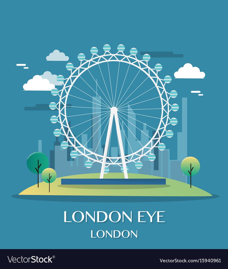 Famous london landmark london eye