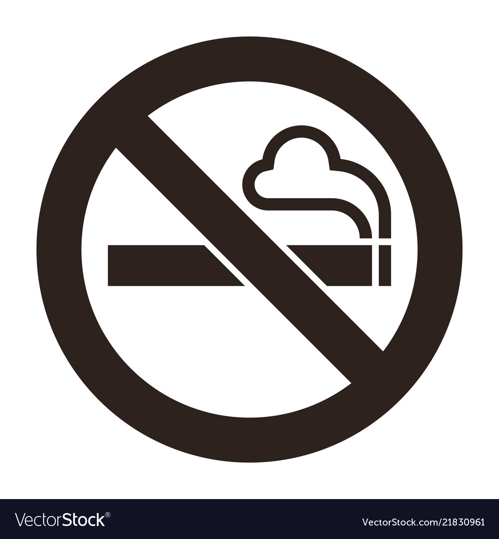 Regret, No smoking sign vector topic simply