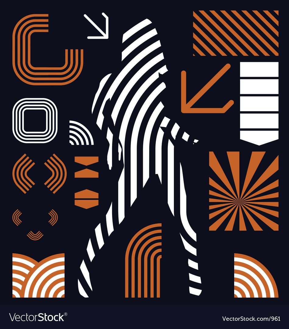 Stripe graphic elements