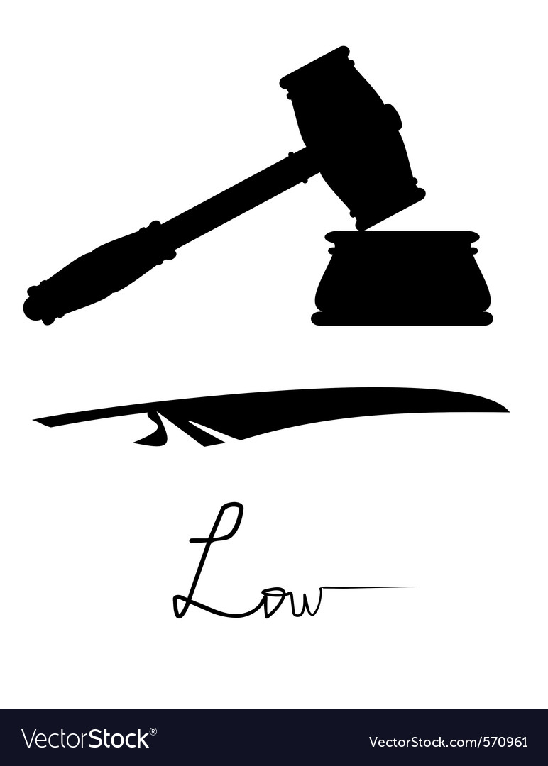 Symbols Of Justice And Low Royalty Free Vector Image