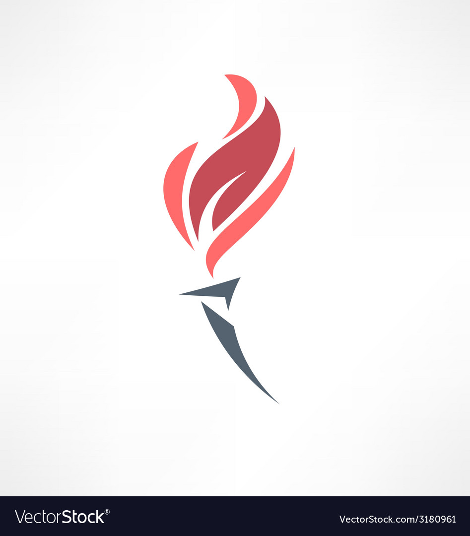 Torch icon Logo design vector image