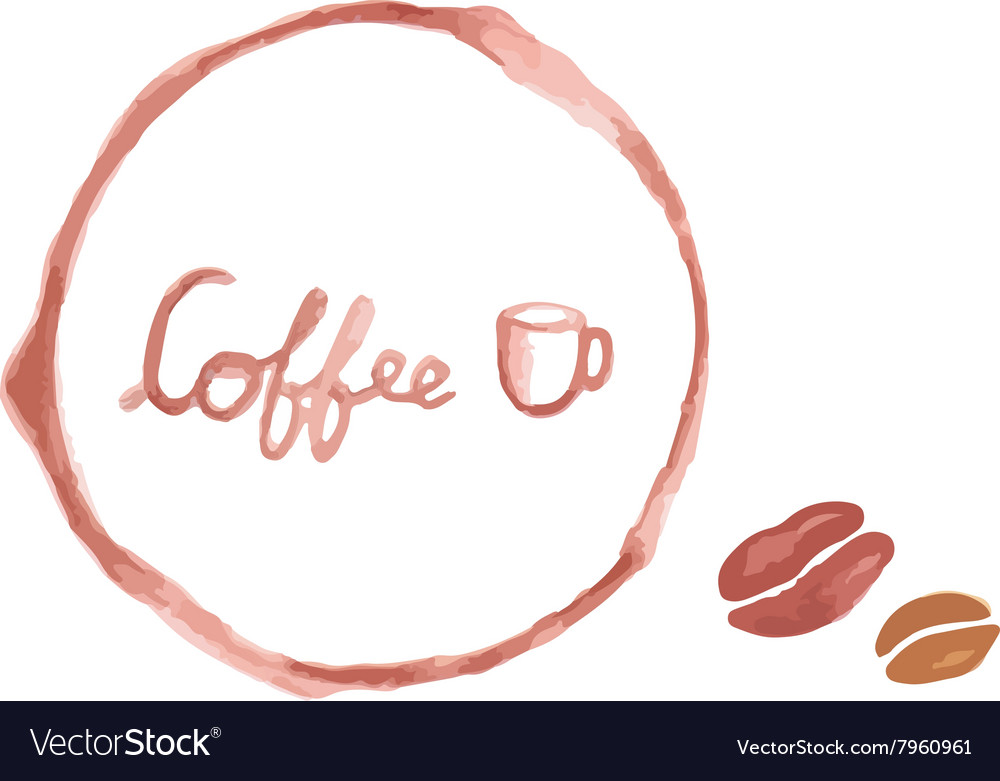 Watercolor coffee cup stains
