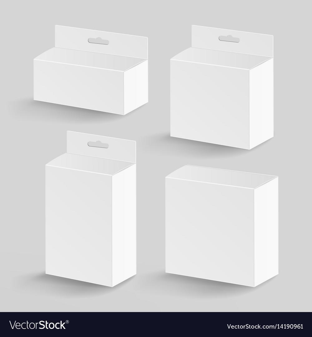 White blank cardboard rectangle realistic