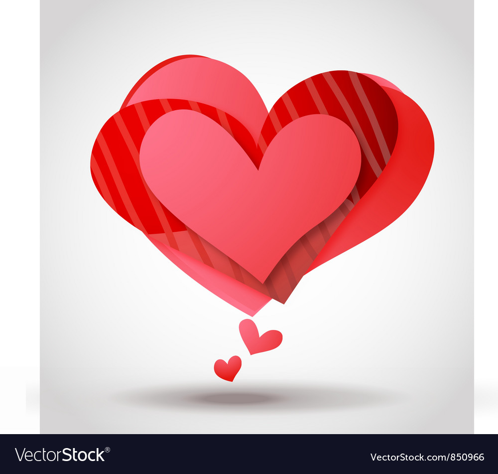 Abstract hearts vector image