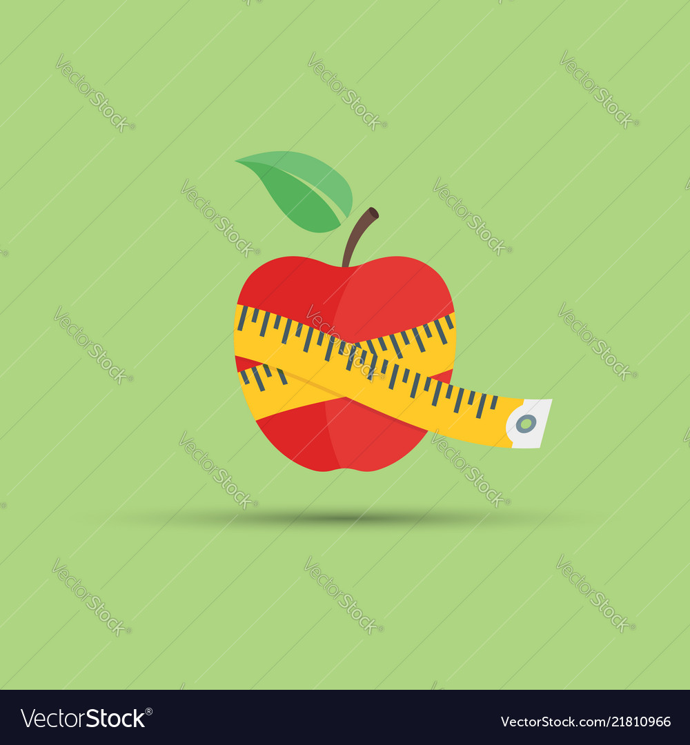 Apple and centimeter flat
