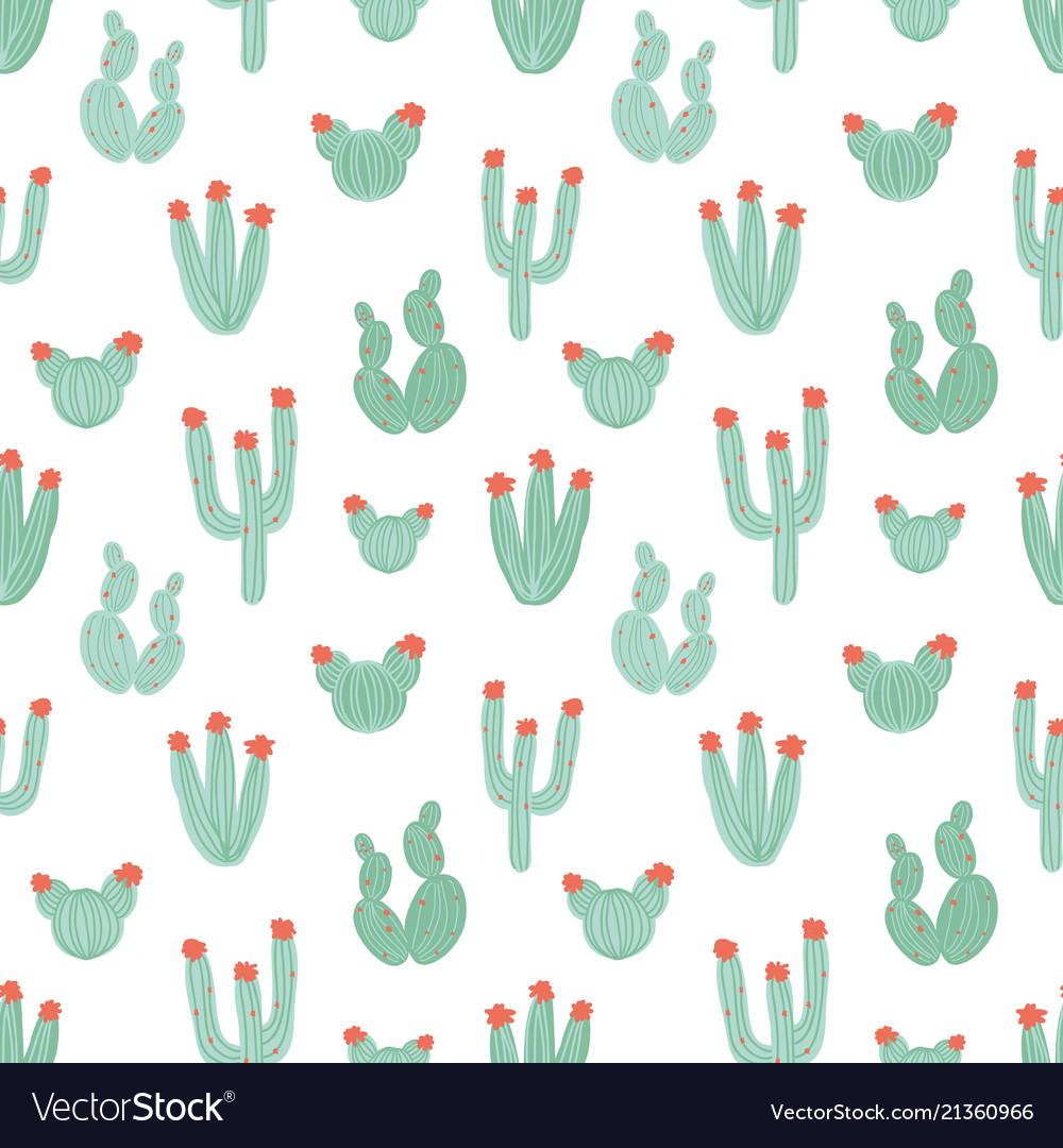 Botanical seamless pattern with hand drawn green
