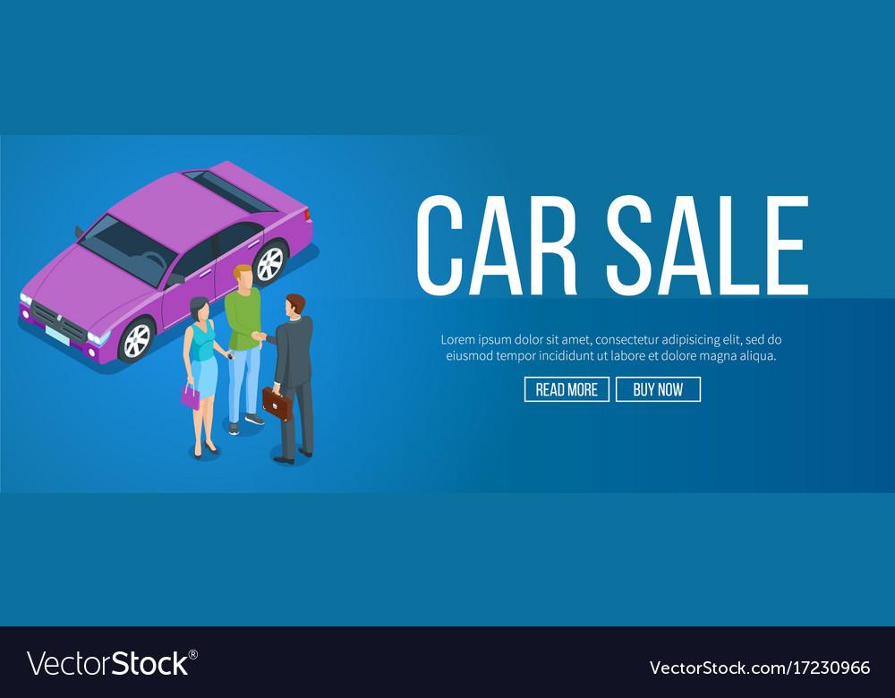 Car sale banner vector image