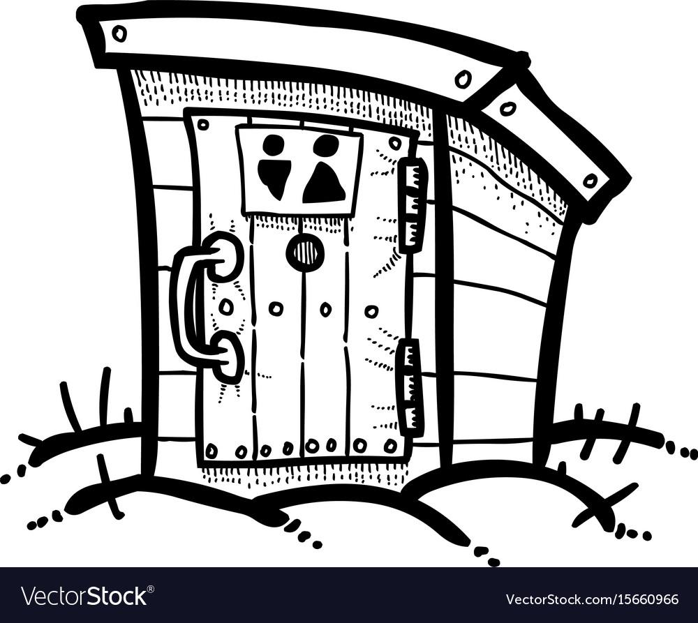 Cartoon image of toilet icon toilet symbol