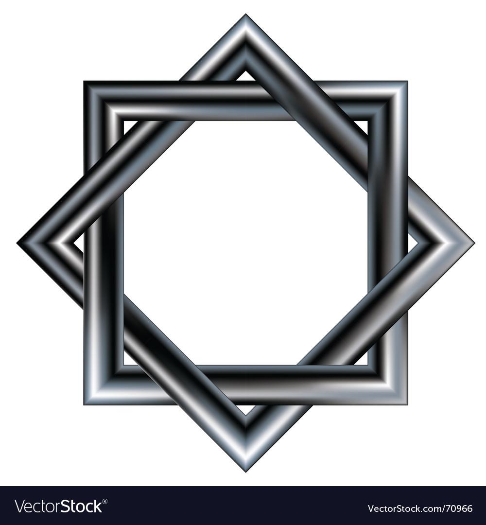 Celtic star design pattern vector image