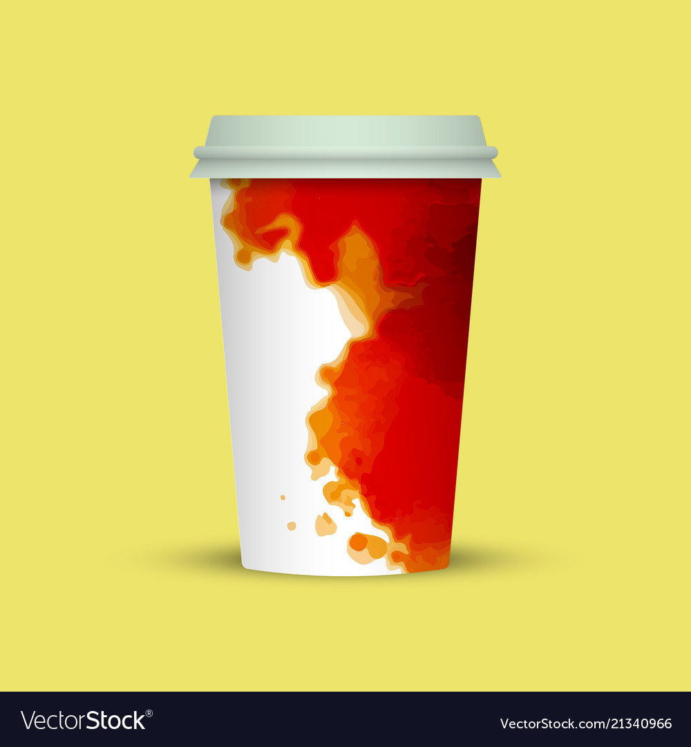 creative watercolor coffee cup template royalty free vector