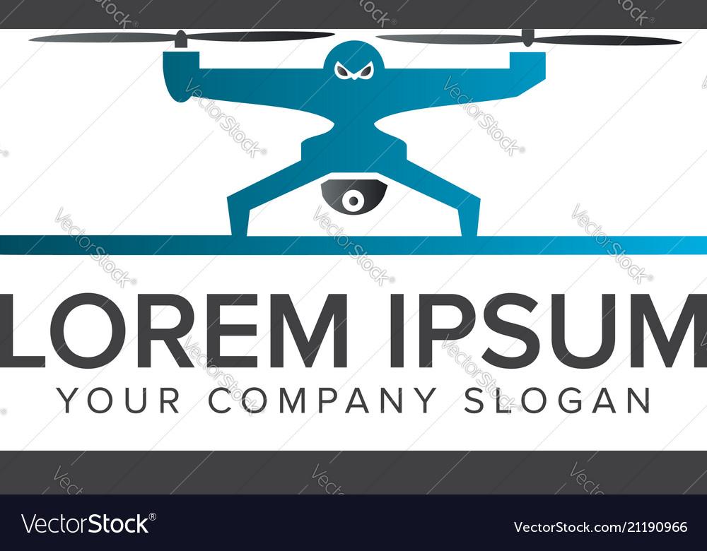 Drone logo tech camera logo design concept