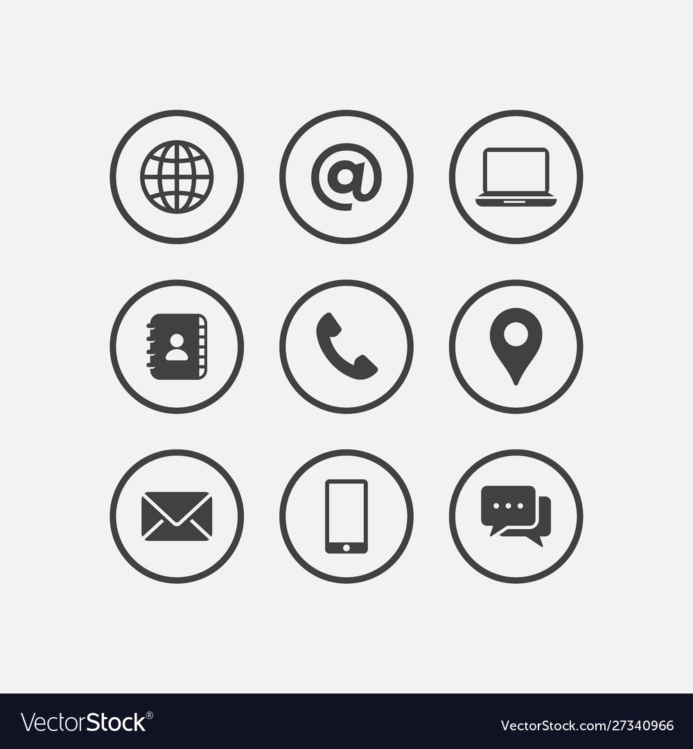 Media and communication icon set mobile icon tel