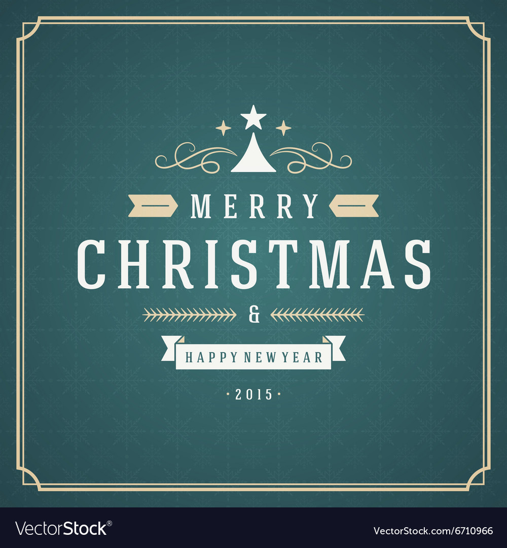 Merry Christmas typography decoration greeting