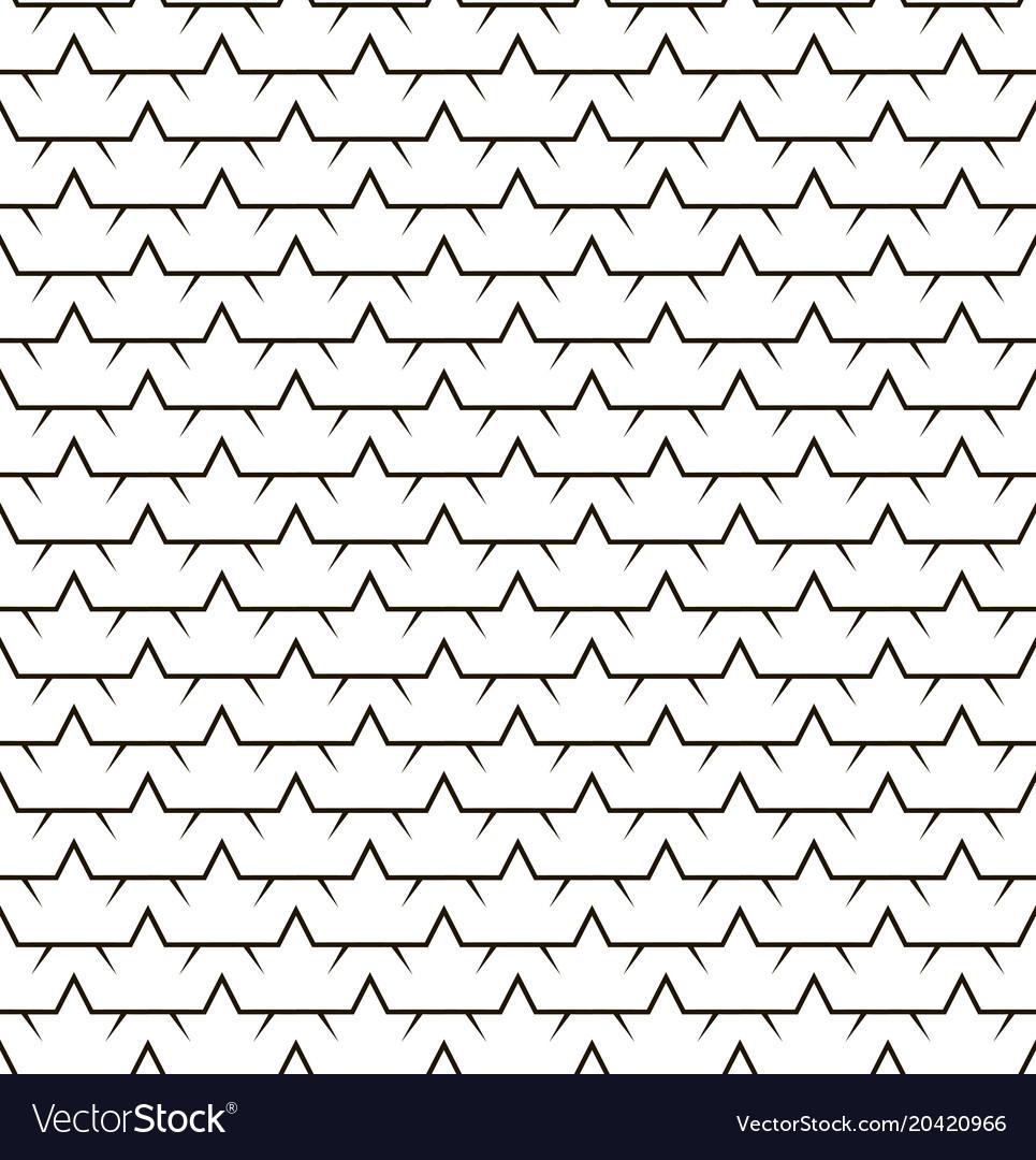 Stars line fence seamless pattern
