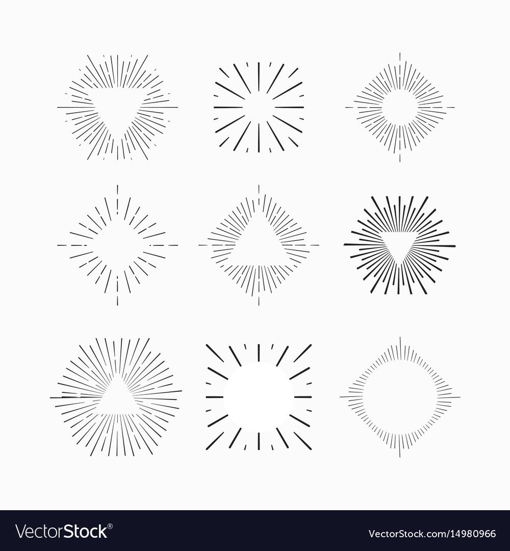 Tribal boho sun burst vintage starburst logo