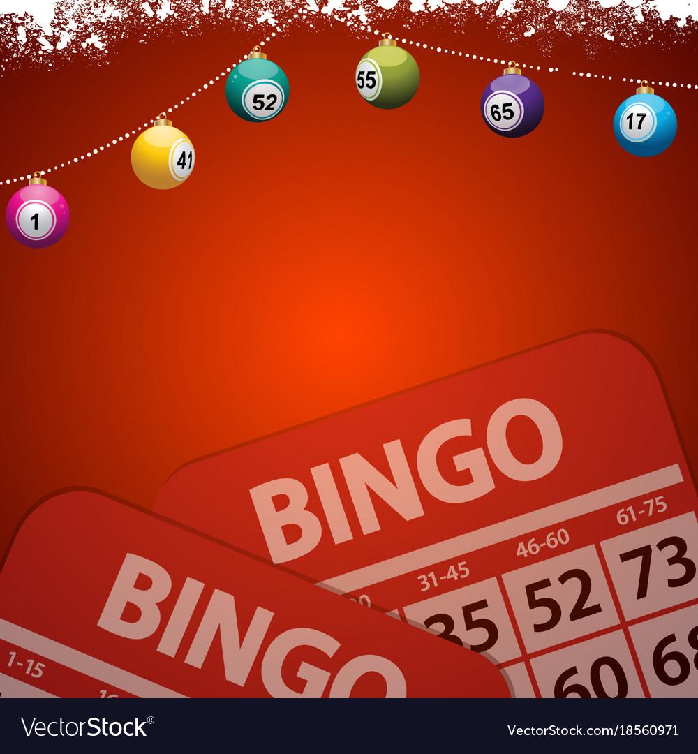 Christmas Bingo.Christmas Bingo Baubles On Festive Red Background