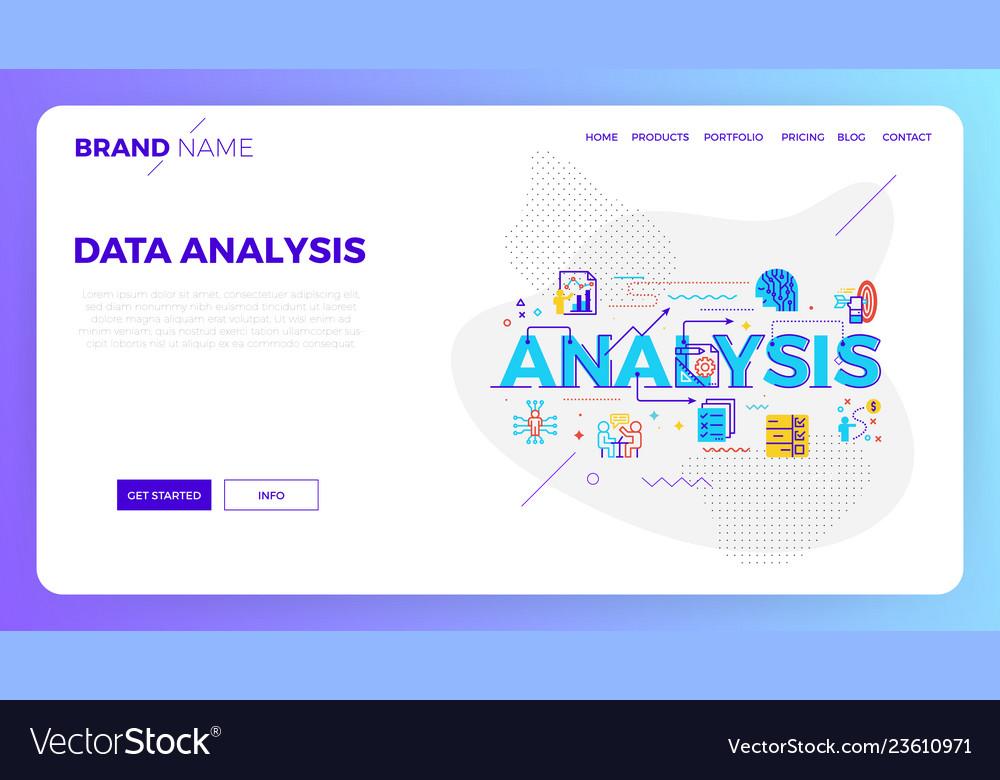 Data analysis web template